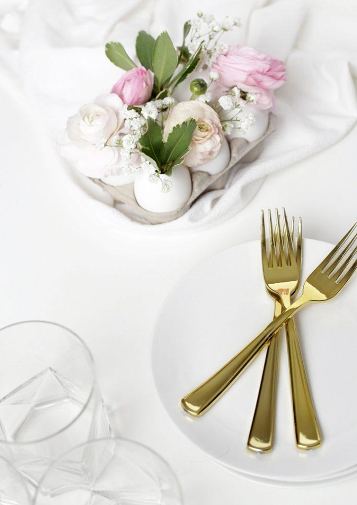 centro de mesa com ovos